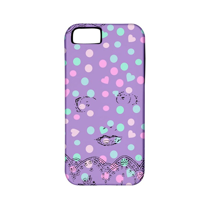Little Face Apple iPhone 5 Classic Hardshell Case (PC+Silicone)