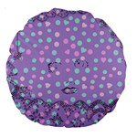 Little Face Large 18  Premium Round Cushions Front