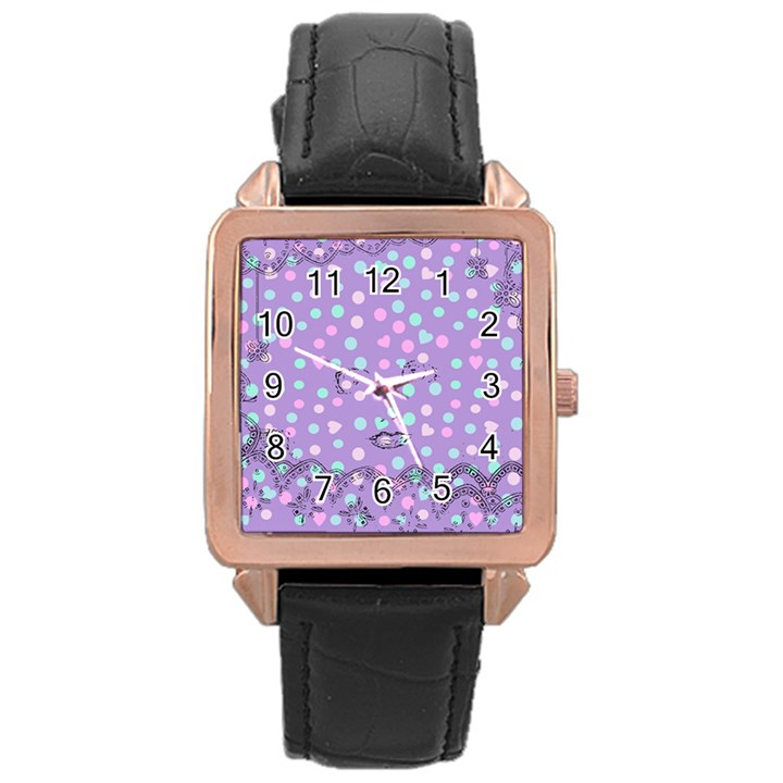 Little Face Rose Gold Leather Watch