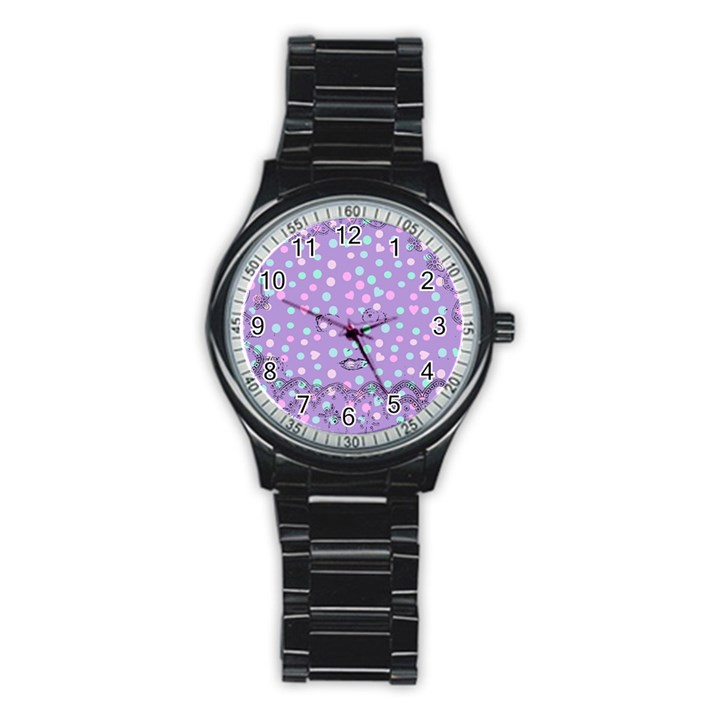 Little Face Stainless Steel Round Watch