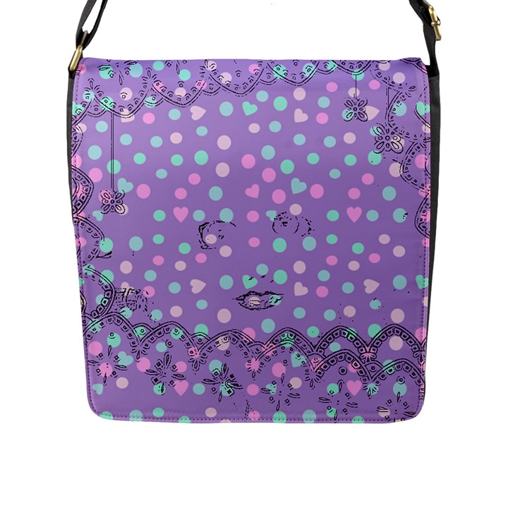 Little Face Flap Messenger Bag (L)