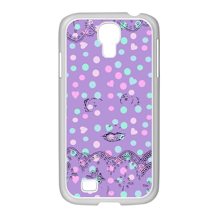 Little Face Samsung GALAXY S4 I9500/ I9505 Case (White)