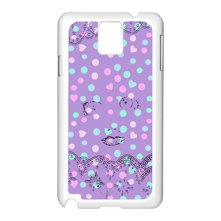 Little Face Samsung Galaxy Note 3 N9005 Case (White)