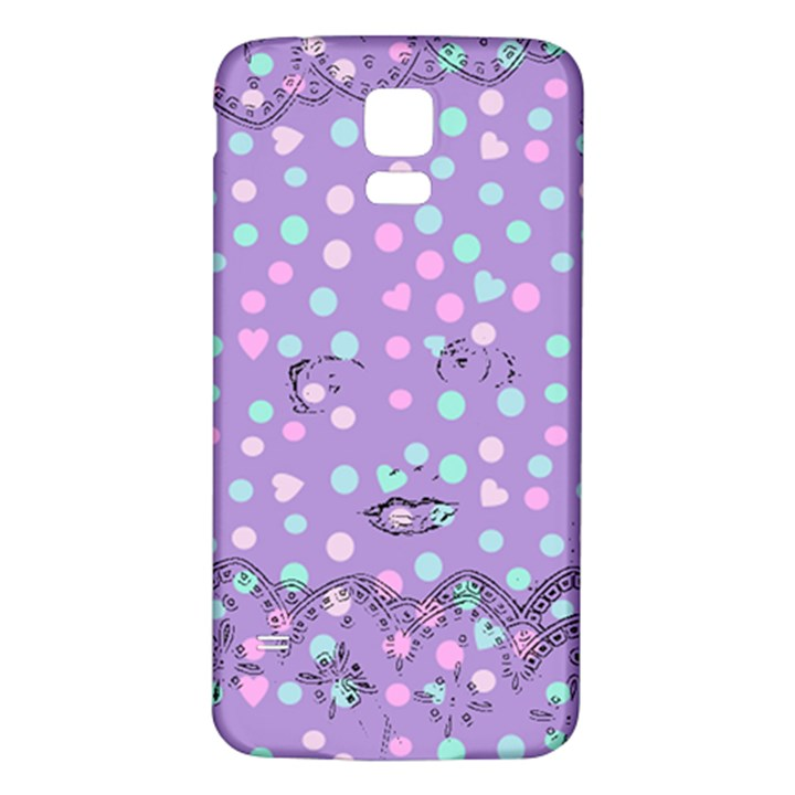 Little Face Samsung Galaxy S5 Back Case (White)