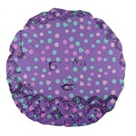 Little Face Large 18  Premium Flano Round Cushions Back