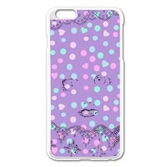 Little Face Apple Iphone 6 Plus/6s Plus Enamel White Case