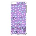 Little Face Apple iPhone 6 Plus/6S Plus Enamel White Case Front