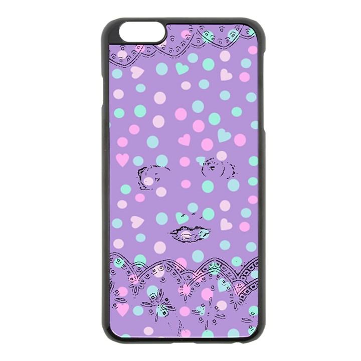 Little Face Apple iPhone 6 Plus/6S Plus Black Enamel Case