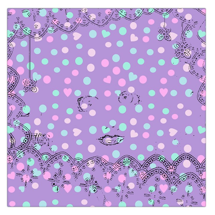 Little Face Large Satin Scarf (Square)
