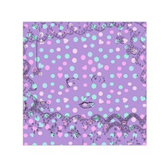Little Face Small Satin Scarf (square)