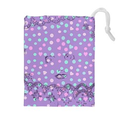 Little Face Drawstring Pouches (extra Large)