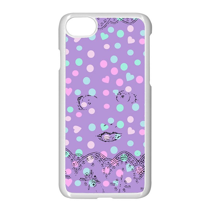 Little Face Apple iPhone 7 Seamless Case (White)