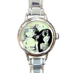 Mint Wall Round Italian Charm Watch Front