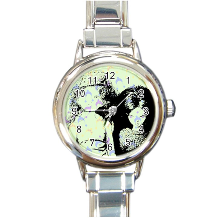 Mint Wall Round Italian Charm Watch