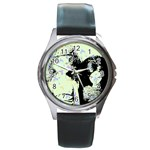 Mint Wall Round Metal Watch Front