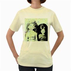 Mint Wall Women s Yellow T Shirt