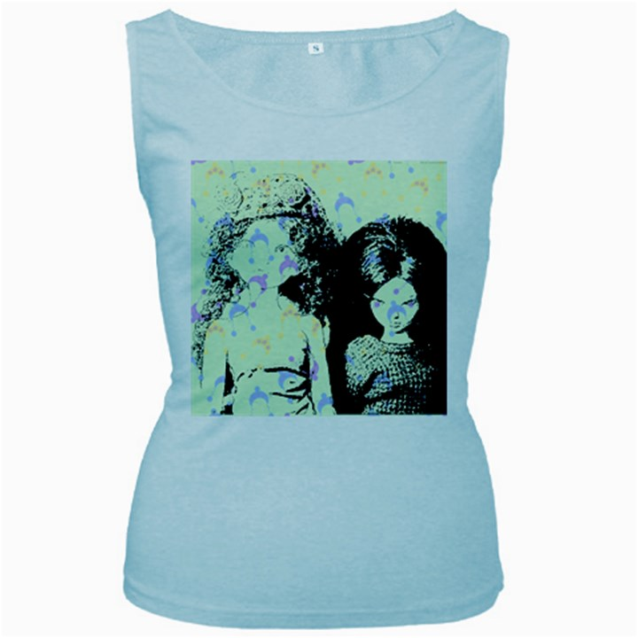 Mint Wall Women s Baby Blue Tank Top