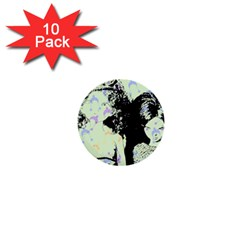Mint Wall 1  Mini Buttons (10 Pack)