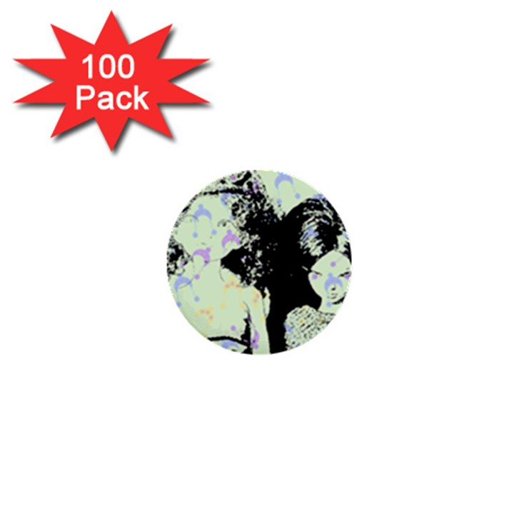 Mint Wall 1  Mini Buttons (100 pack)