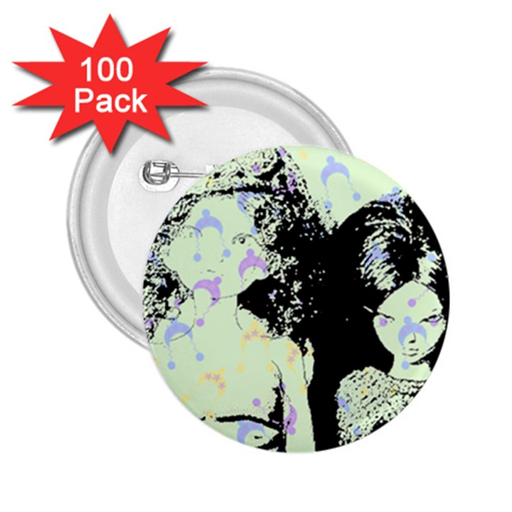 Mint Wall 2.25  Buttons (100 pack)