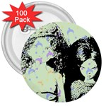 Mint Wall 3  Buttons (100 pack)  Front