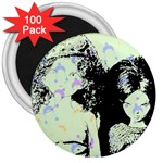 Mint Wall 3  Magnets (100 pack) Front