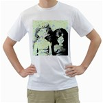 Mint Wall Men s T-Shirt (White) (Two Sided) Front