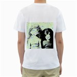 Mint Wall Men s T-Shirt (White) (Two Sided) Back