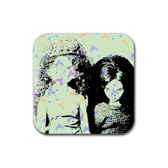 Mint Wall Rubber Coaster (square)