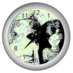 Mint Wall Wall Clocks (Silver)  Front