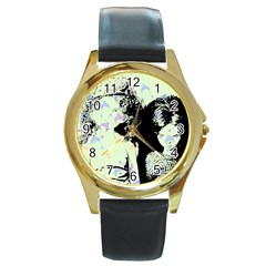 Mint Wall Round Gold Metal Watch
