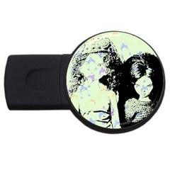 Mint Wall Usb Flash Drive Round (2 Gb)