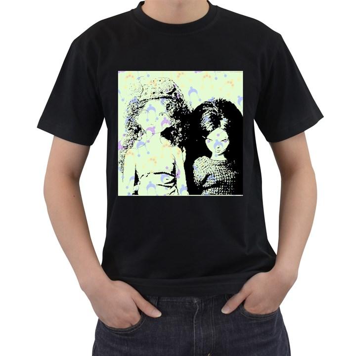 Mint Wall Men s T-Shirt (Black) (Two Sided)