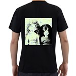Mint Wall Men s T-Shirt (Black) (Two Sided) Back