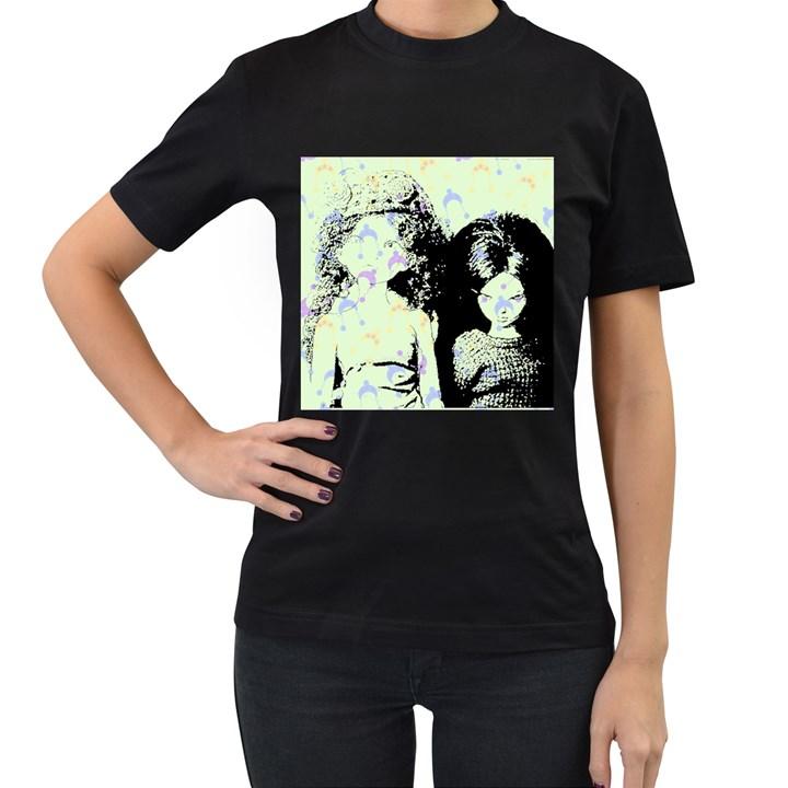 Mint Wall Women s T-Shirt (Black) (Two Sided)