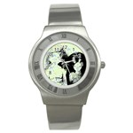 Mint Wall Stainless Steel Watch Front