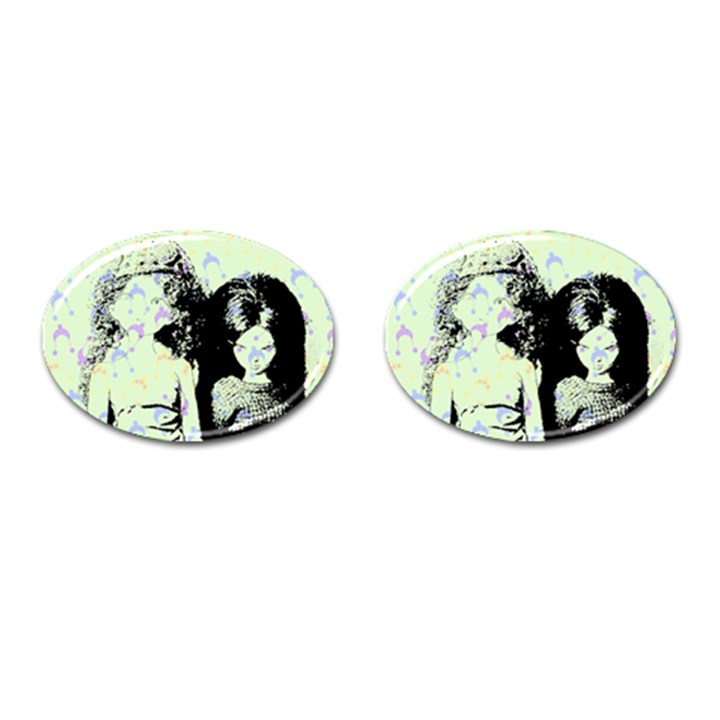Mint Wall Cufflinks (Oval)