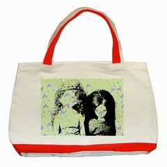 Mint Wall Classic Tote Bag (red)