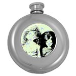 Mint Wall Round Hip Flask (5 oz) Front