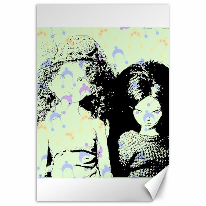 Mint Wall Canvas 24  x 36