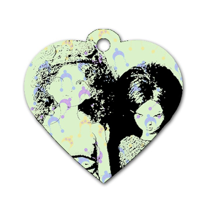 Mint Wall Dog Tag Heart (Two Sides)