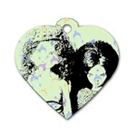 Mint Wall Dog Tag Heart (Two Sides) Back