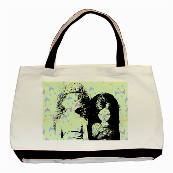 Mint Wall Basic Tote Bag (Two Sides)