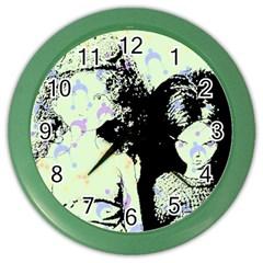 Mint Wall Color Wall Clocks