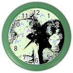 Mint Wall Color Wall Clocks Front