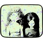Mint Wall Double Sided Fleece Blanket (Mini)  35 x27 Blanket Front
