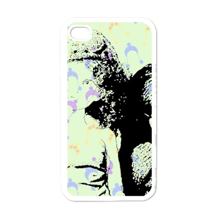 Mint Wall Apple iPhone 4 Case (White)