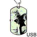 Mint Wall Dog Tag USB Flash (Two Sides) Front