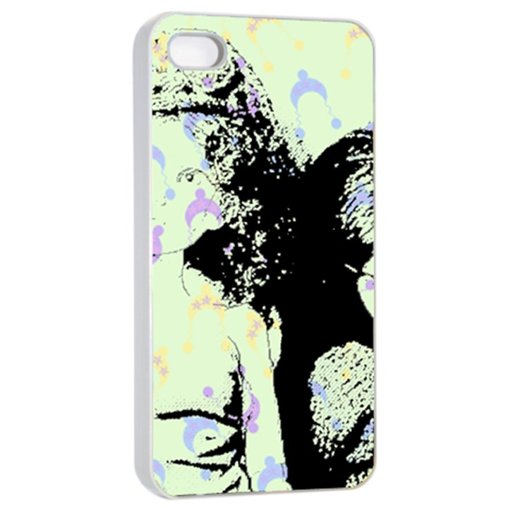 Mint Wall Apple iPhone 4/4s Seamless Case (White)