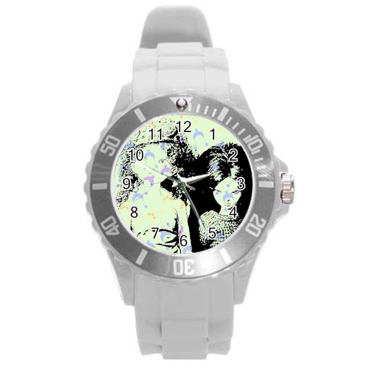 Mint Wall Round Plastic Sport Watch (L)